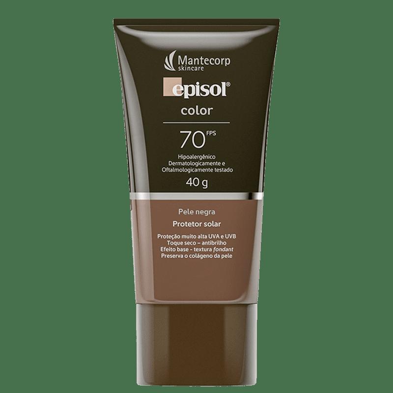 Mantecorp Episol Color FPS 70 Pele Negra - Protetor Solar com Cor 40g