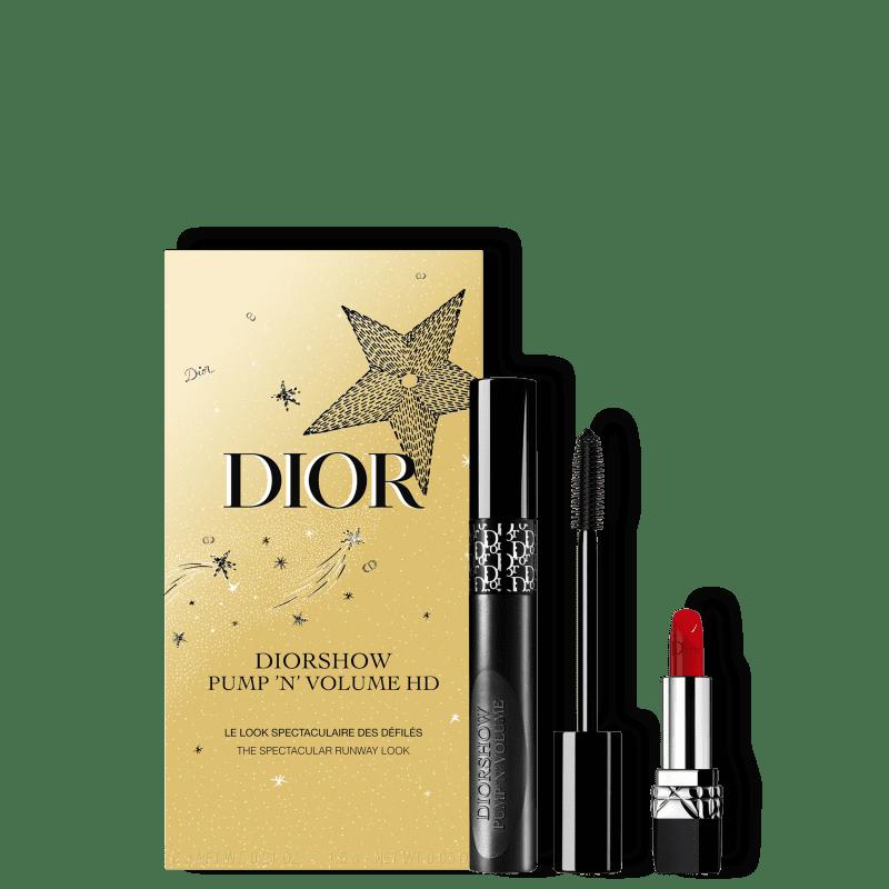 Kit Dior Diorshow Pump 'N' Volume HD + Dior Rouge (2 Produtos)