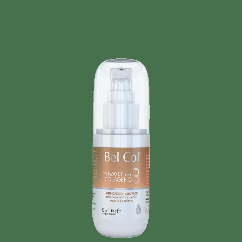 Bel Col Fluido de Colágeno 3 - Loção Hidratante Facial 30ml