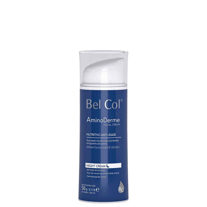Bel Col AminoDerme Night Cream - Creme Hidratante Facial 50g