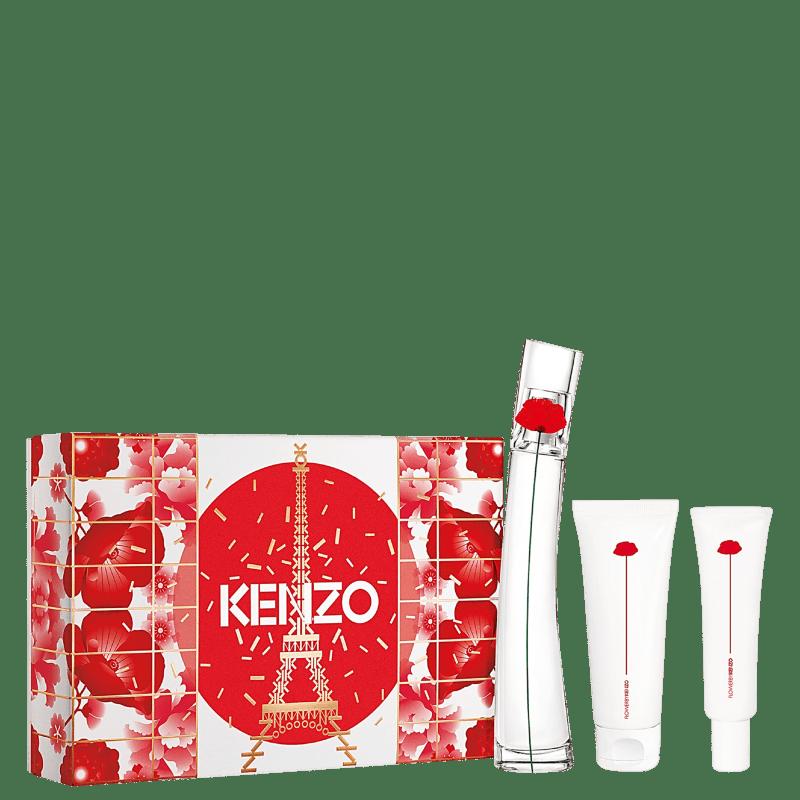 Conjunto Flower by Kenzo Feminino - Eau de Parfum 50ml + Loção Corporal 75ml + Creme Hidratante para as Mãos 20ml