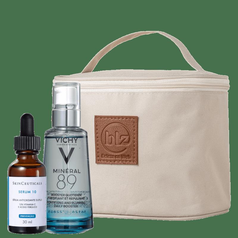 Kit Beleza na Web Skincare Minéral 89 + Serum 10 (3 Produtos)
