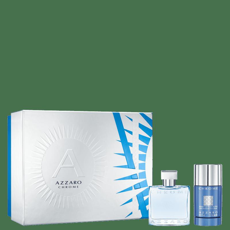 Conjunto Chrome Azzaro Gift Set Masculino - Eau de Toilette 50ml + Desodorante 75ml