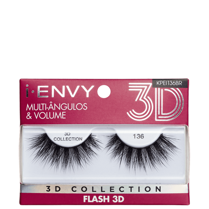 Kiss New York i-Envy Flash 3D Collection 136 - Cílios Postiços