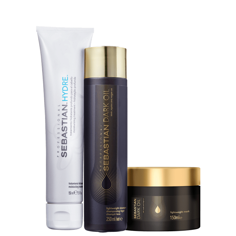 Kit Sebastian Professional Dark Oil & Hydre (3 Produtos)