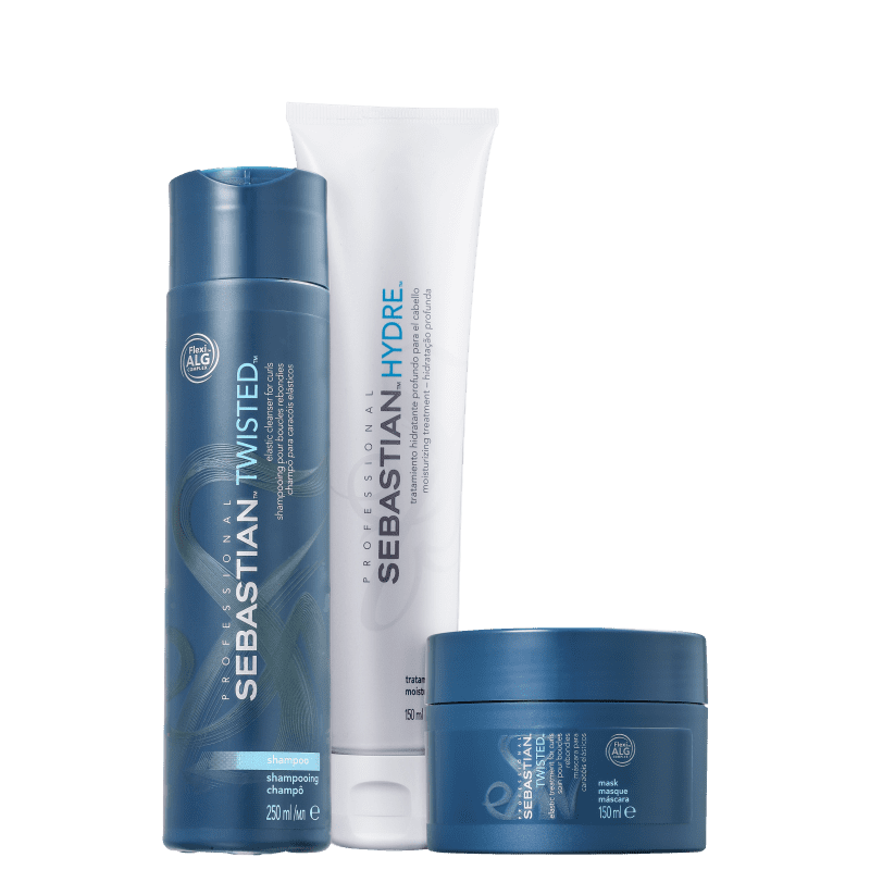 Kit Sebastian Professional Twisted Elastic + Hydre (3 Produtos)