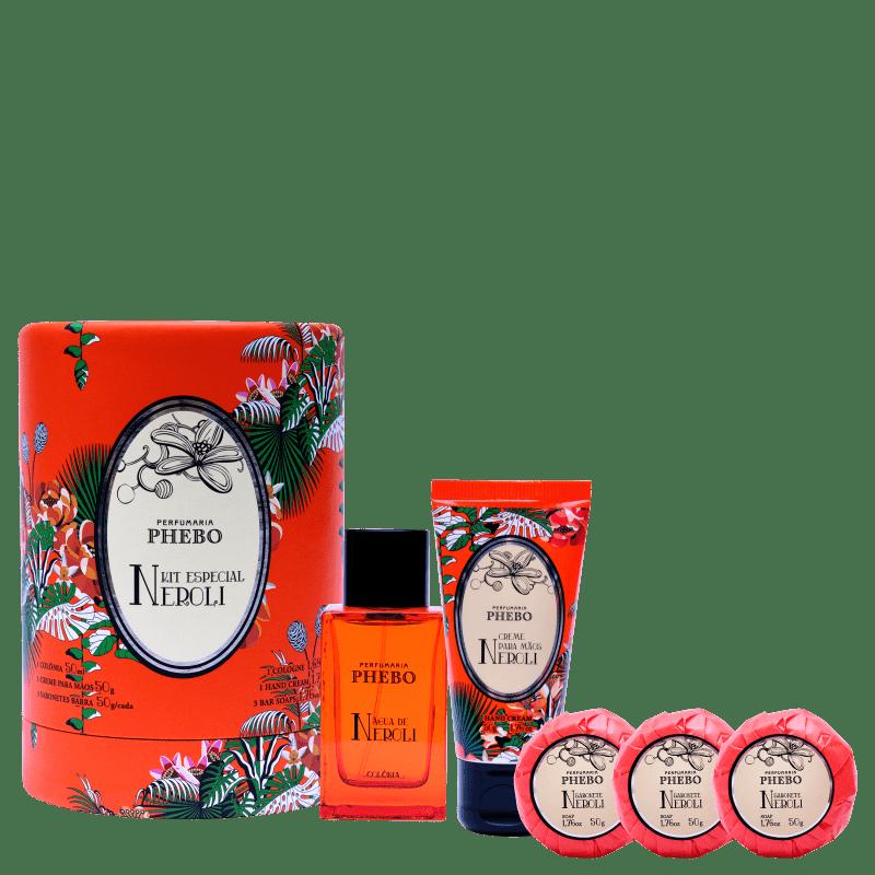 Kit Água de Neroli Phebo Fibra Lata Tropical (5 Produtos)
