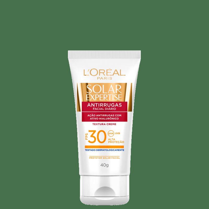 L'Oréal Paris Solar Expertise Antirrugas FPS 30 - Protetor Solar Facial 40g