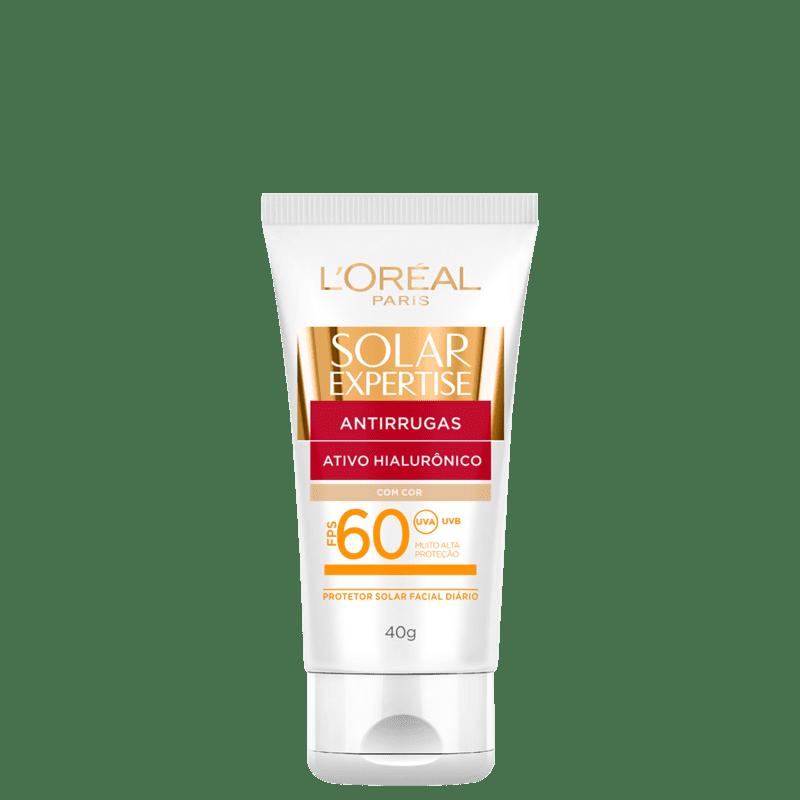 L'Oréal Paris Solar Expertise Antirrugas FPS 60 - Protetor Solar com Cor 40g