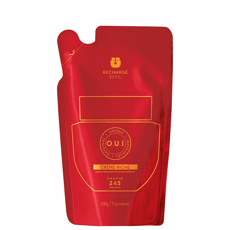 O.U.i Scapin 245 - Creme Riche Hidratante Corporal Refil, 200g