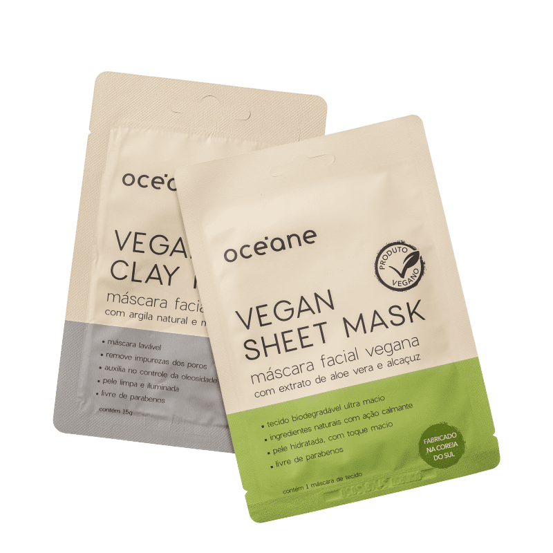 Kit Océane Vegan Mask (2 Produtos)