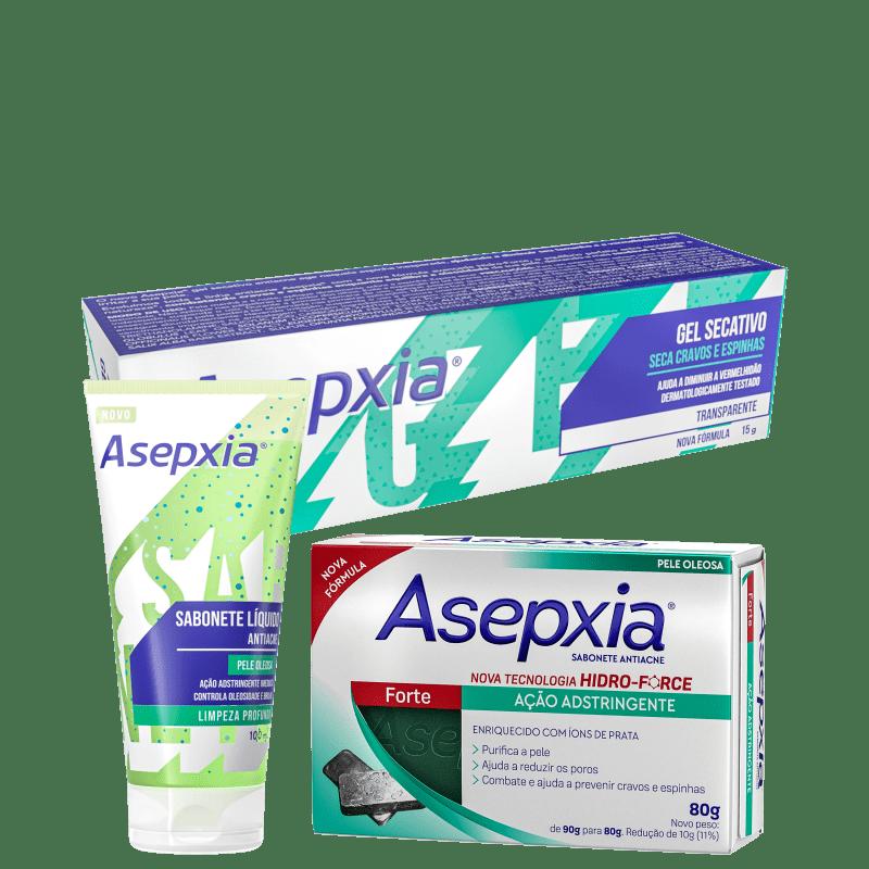 Kit Asepxia Limpeza Completa (3 produtos)