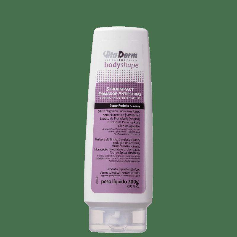 Vita Derm Body Shape Striaimpact Antiestrias - Creme de Massagem para Estrias 200g