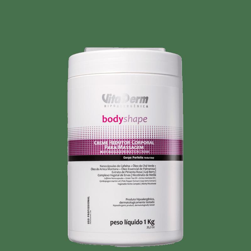 Vita Derm Body Shape Redutor - Creme de Massagem Corporal 1kg