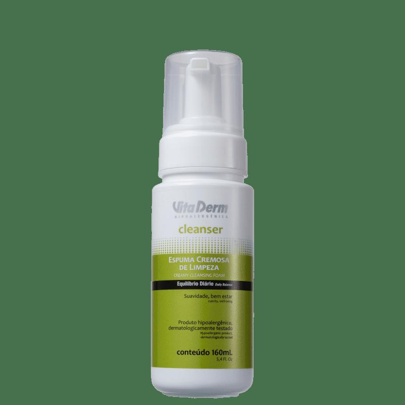 Vita Derm Cleanser - Espuma de Limpeza Facial 160ml