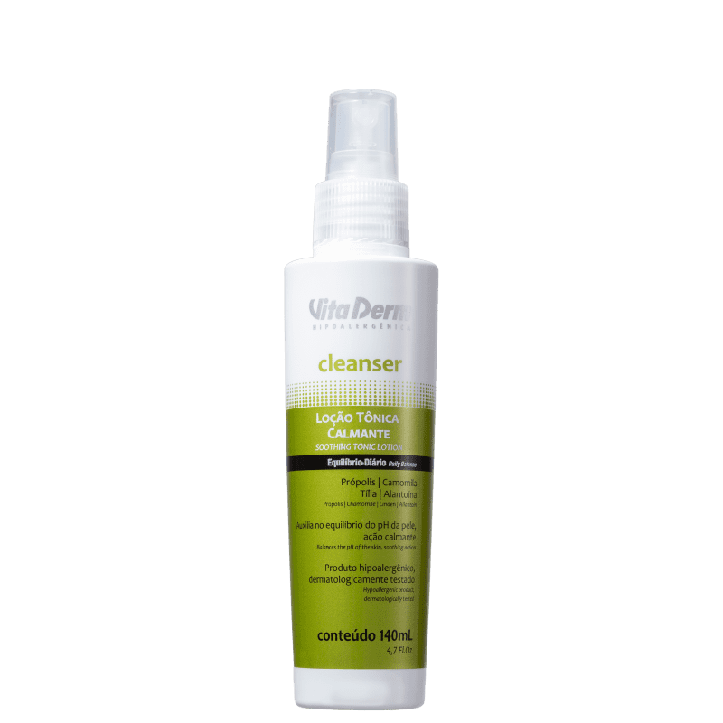 Vita Derm Cleanser Loção Calmante - Tônico Facial 140ml