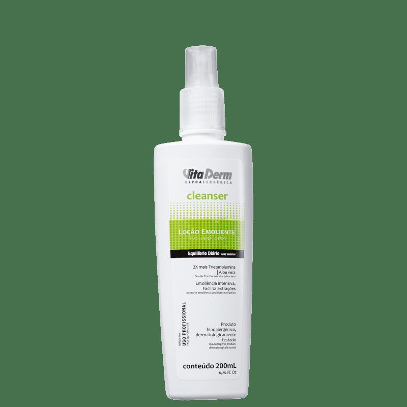 Vita Derm Cleanser Emoliente - Loção Hidratante Facial 400ml