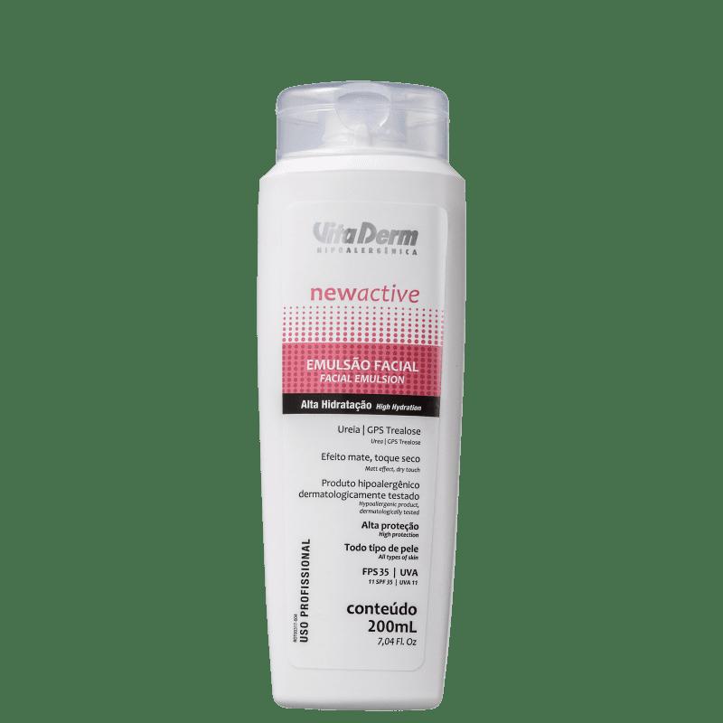Vita Derm New Active Emulsão FPS 35 - Loção Hidratante Facial 200ml