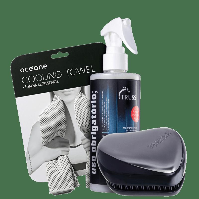 Kit Beleza na Web Truss Uso Obrigatório + Tangle Teezer + Cooling Towel (3 Produtos)