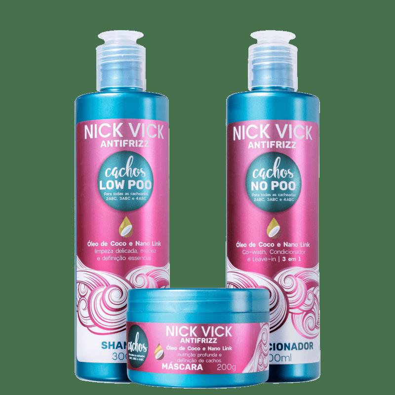 Kit Nick & Vick Antifrizz Cachos (3 produtos)