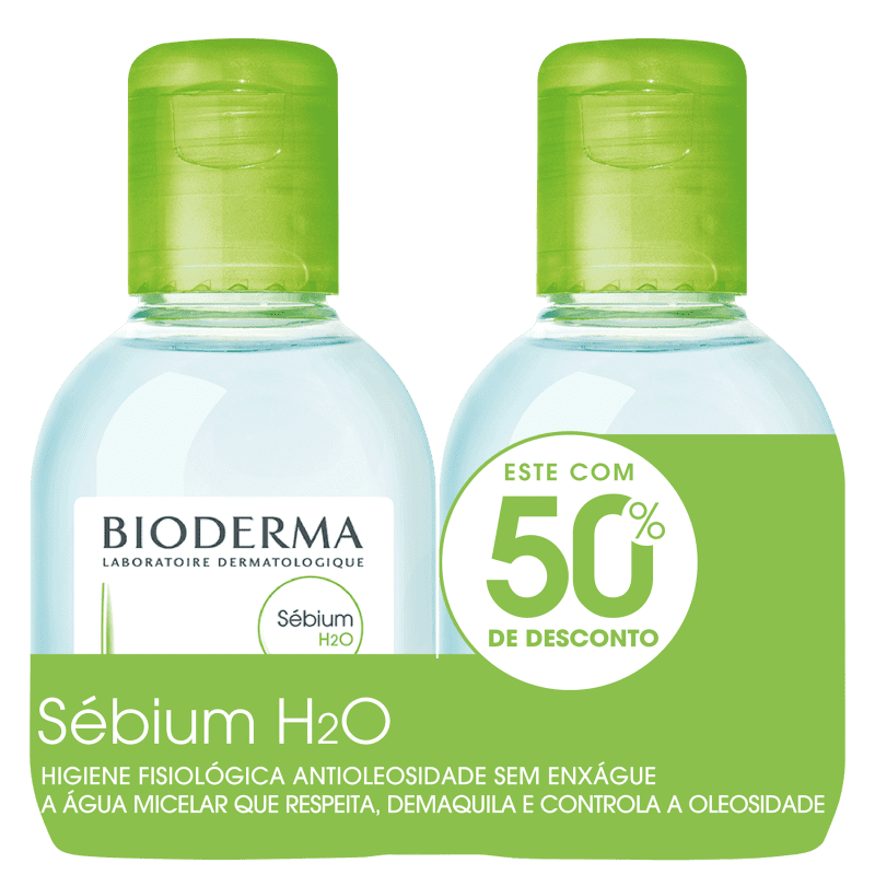 Kit Bioderma Sébium H2O Duo - Água Micelar 2x100ml