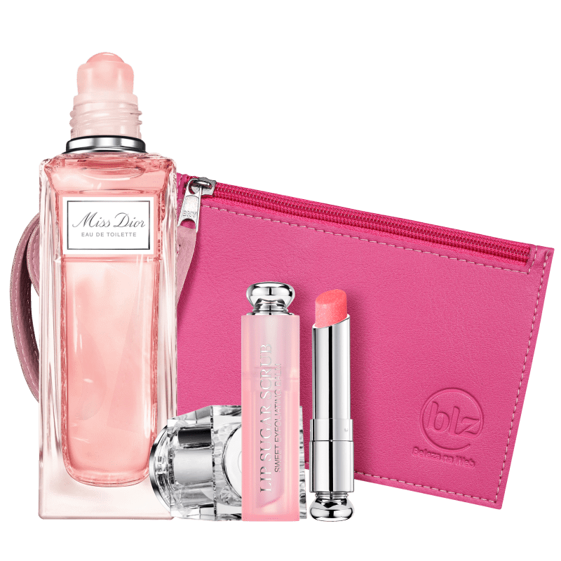 Kit Beleza na Web Miss DIOR Roller-Pearl & Addict Lip Scrub (3 Produtos)