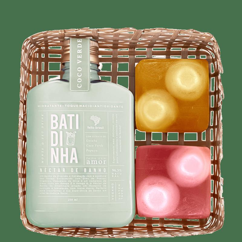 Kit Feito Brasil Vitaminada Néctar de Banho Coco Verde (3 Produtos)