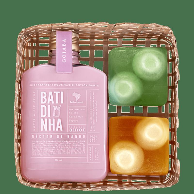 Kit Feito Brasil Vitaminada Néctar de Banho Goiaba (3 Produtos)