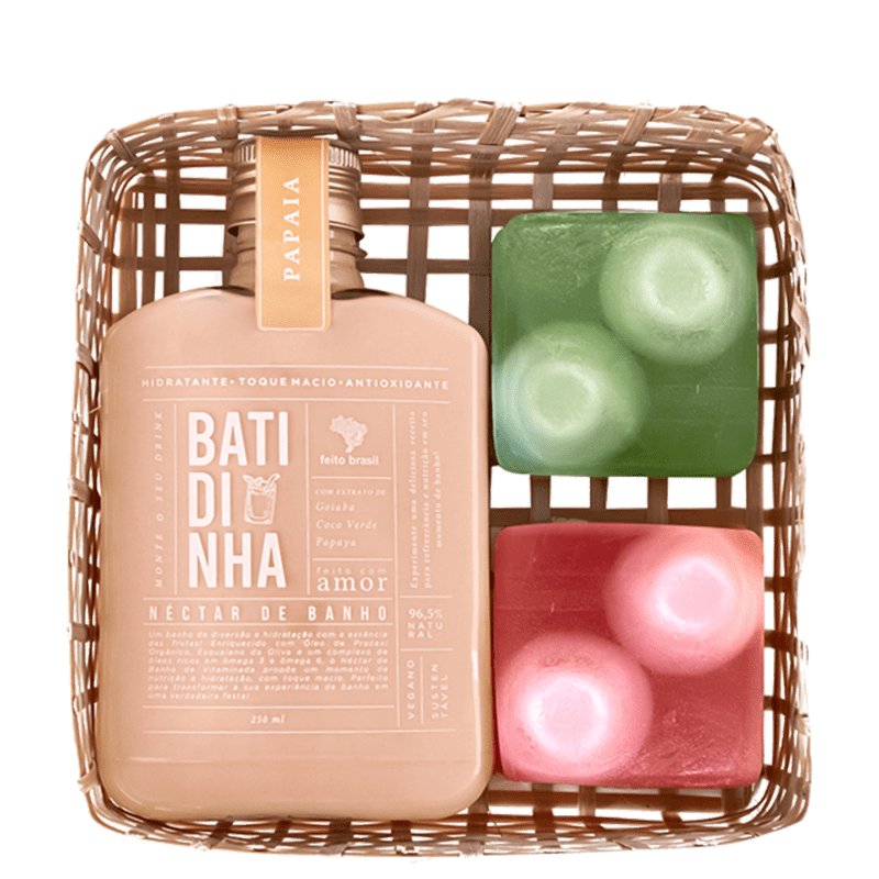 Kit Feito Brasil Vitaminada Néctar de Banho Papaia (3 Produtos)
