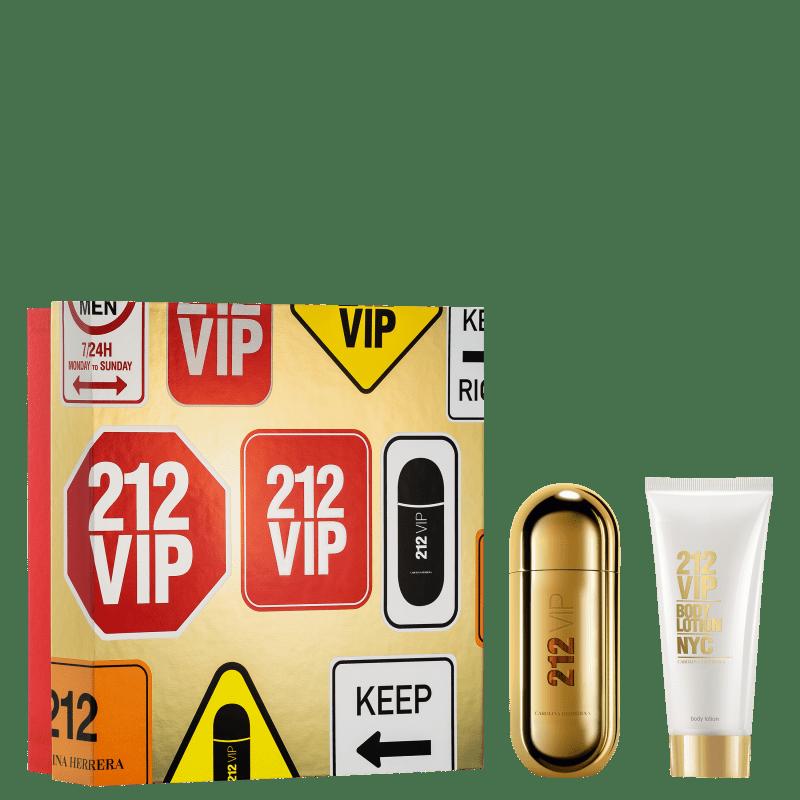 Conjunto 212 VIP Carolina Herrera Feminino - Eau de Parfum 80ml + Body Lotion 100ml