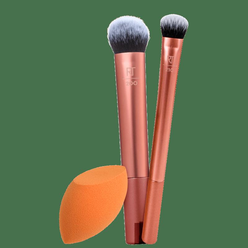 Kit Real Techniques Pincéis & Esponja (3 produtos)