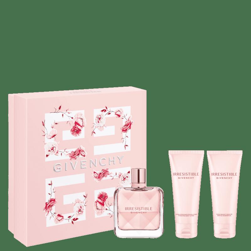 Conjunto Irresistible Givenchy Gift Feminino - Eau de Parfum 80ml + Loção Corporal 75ml + Gel de Banho 75ml