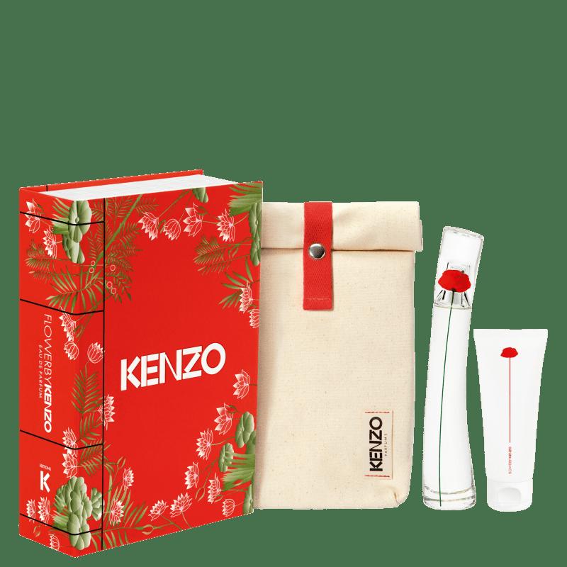 Conjunto Flower by Kenzo Feminino - Eau de Parfum 50ml + Loção Corporal 75ml + Bolsa