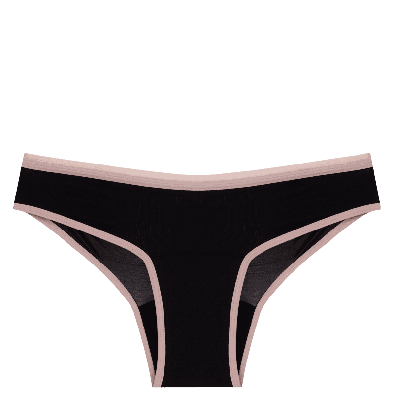 Calcinha Absorvente Pantys Comfy Fluxo Moderado Preta e Rosa G