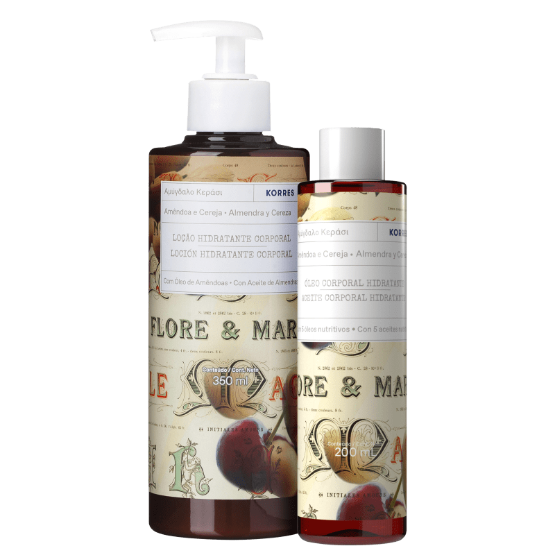 Kit Korres Amêndoa e Cereja (2 produtos)