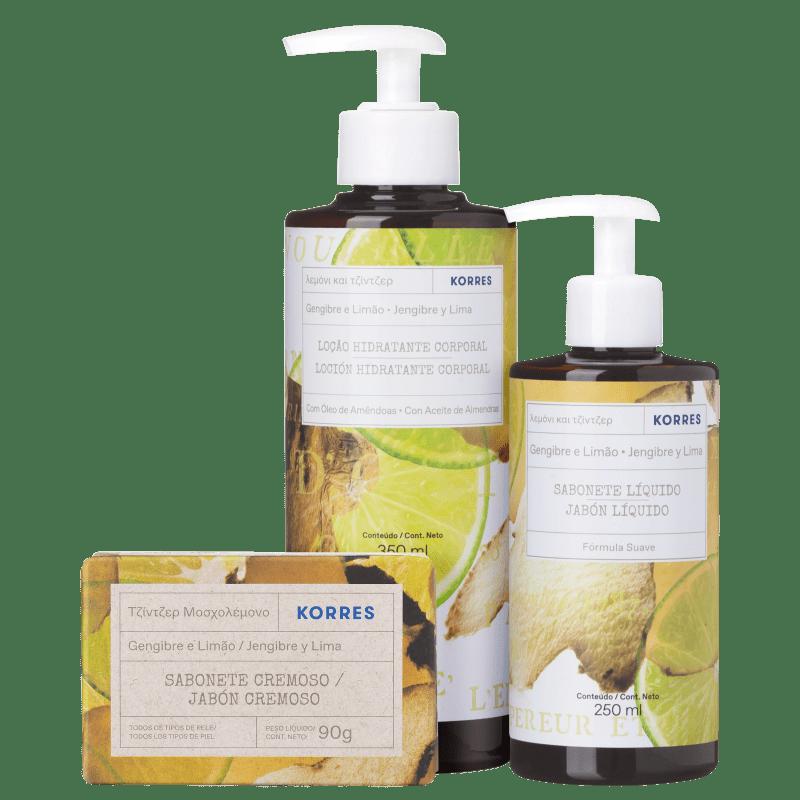 Kit Korres Banho de Cuidados (3 produtos)