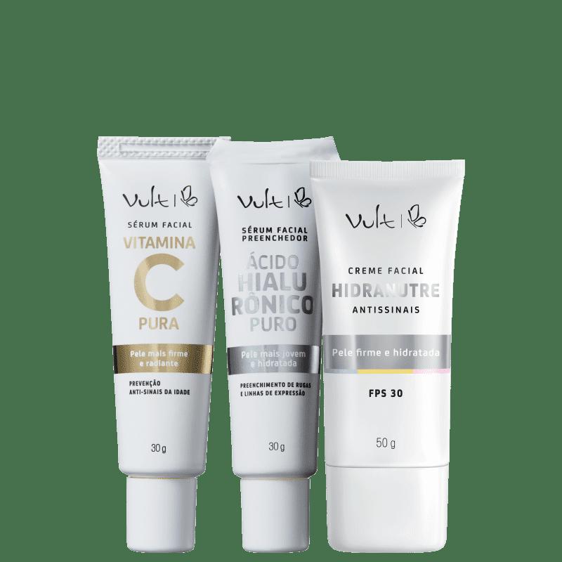 Kit Vult Anti-idade Facial (3 produtos)