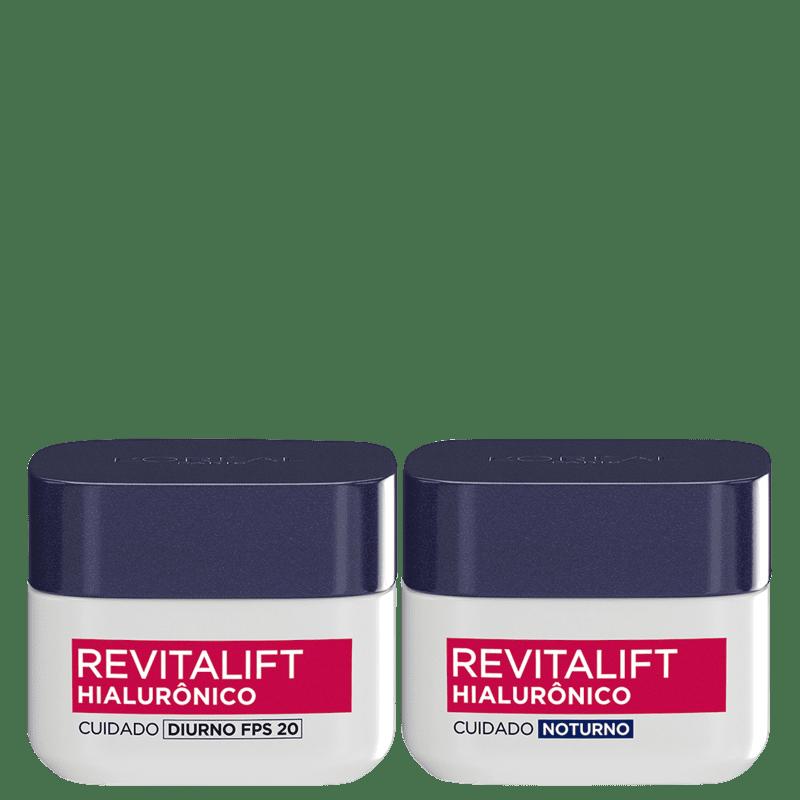 Kit L'Oréal Paris Revitalift Hialurônico Dia & Noite Duo (2 Produtos)
