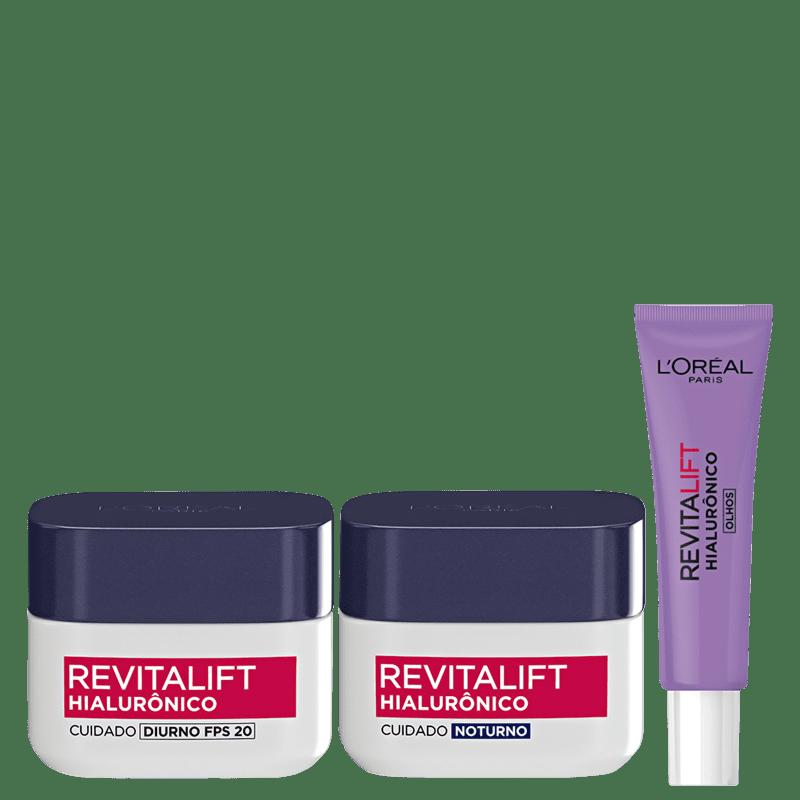 Kit L'Oréal Paris Trio Revitalift Hialurônico (3 Produtos)
