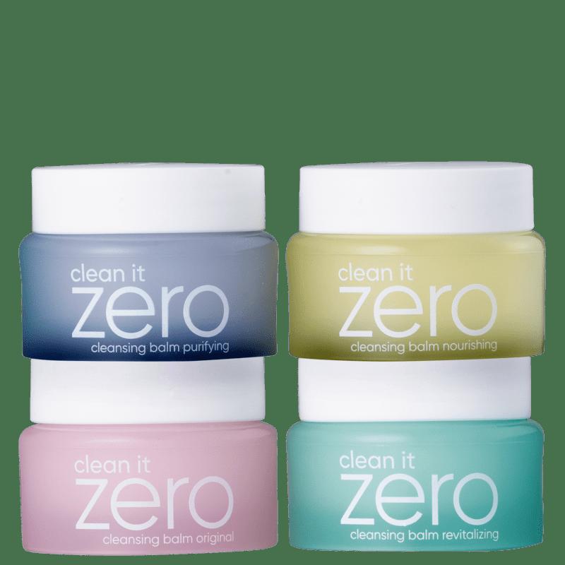 Kit Banila Co Clean it Zero Cleansing Balm Quarteto Mini (4 Produtos)