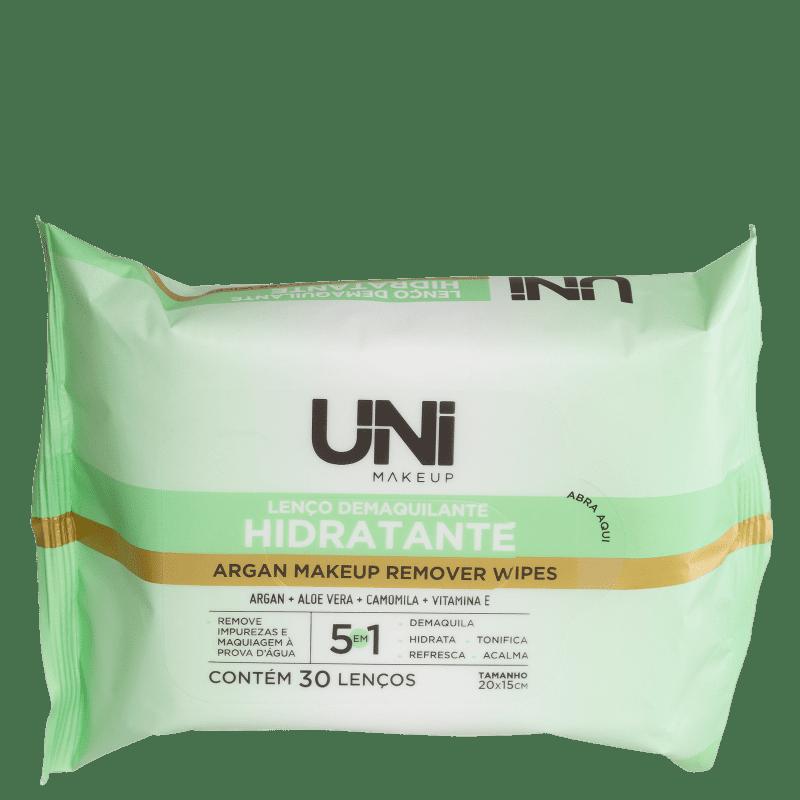 Lenço Demaquilante UNImakeup Hidratante (30 Unidades)