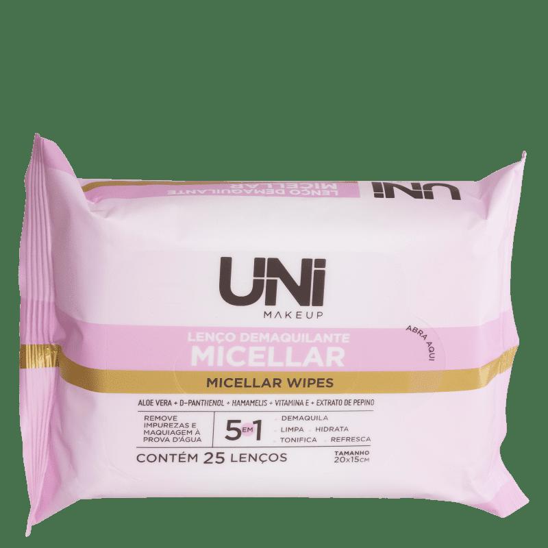 UNImakeup Micellar - Lenço Demaquilante (25 Unidades)