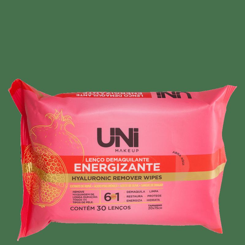 Lenços Demaquilantes UNImakeup Hyaluronic Remover Wipes (30 Unidades)