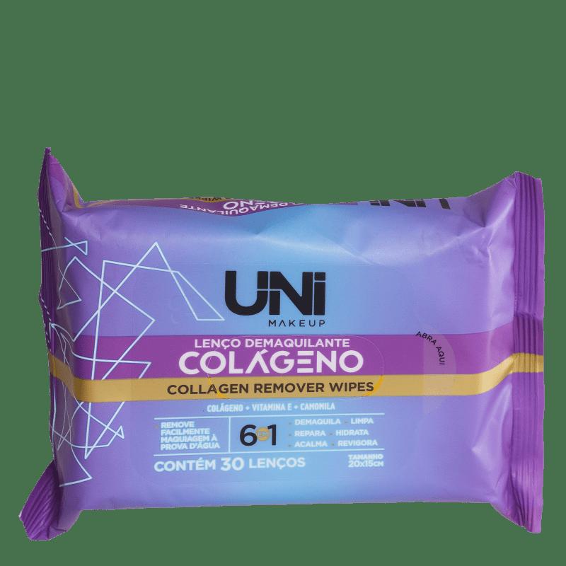 Lenços Demaquilantes UNImakeup Collagen Remover Wipes (30 Unidades)
