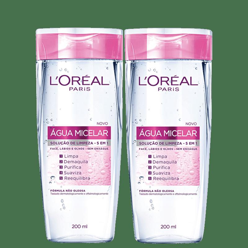 Kit L'Oréal Paris Dermo Expertise Água Micelar 2x200ml