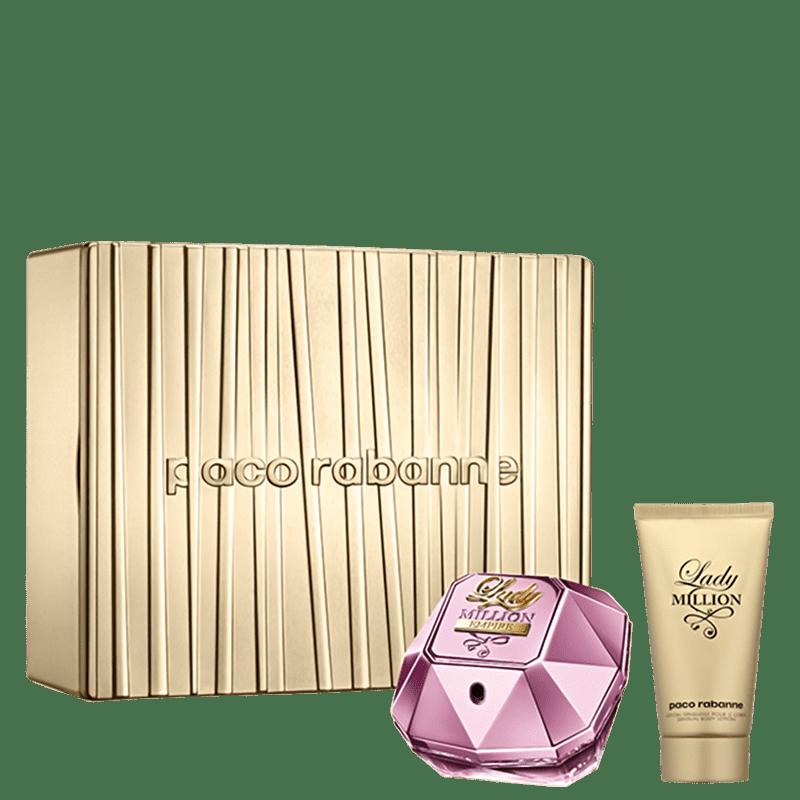 Conjunto Lady Million Empire Paco Rabanne Feminino - Eau de Parfum 50ml + Body Lotion 75ml