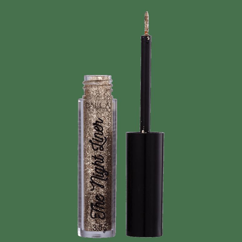 Dalla Makeup The Night Liner Glitter Luxe - Delineador Líquido 3,5g