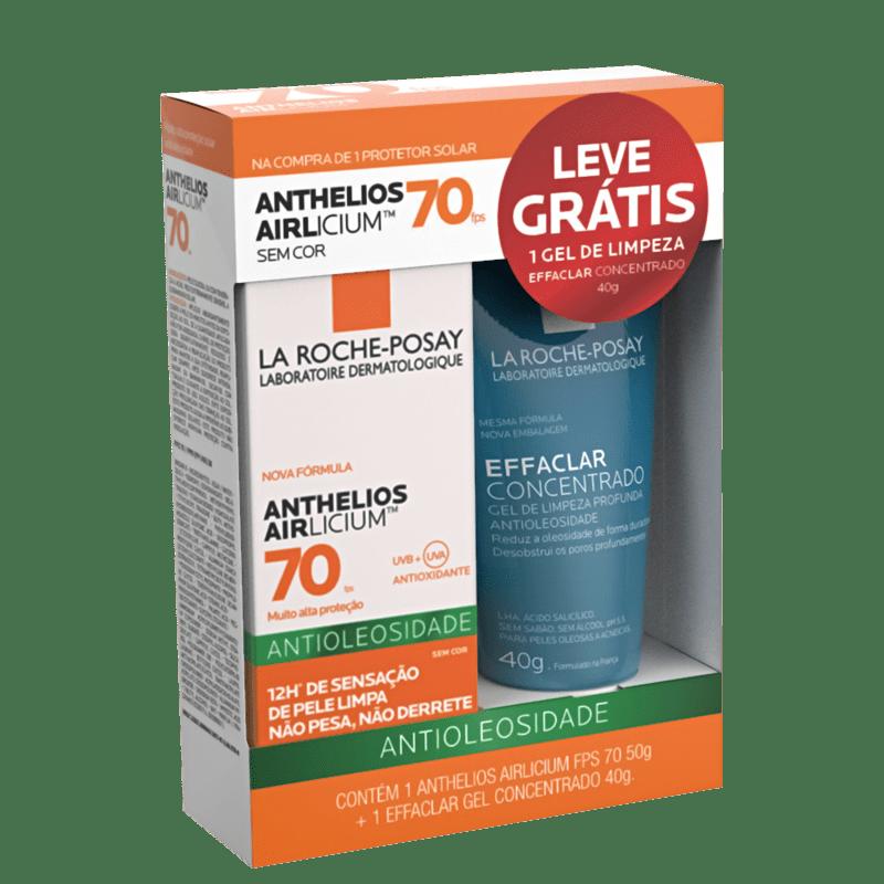 Kit La Roche-Posay Anthelios Airlicium Sem Cor FPS70 + Effaclar Gel Concentrado (2 produtos)