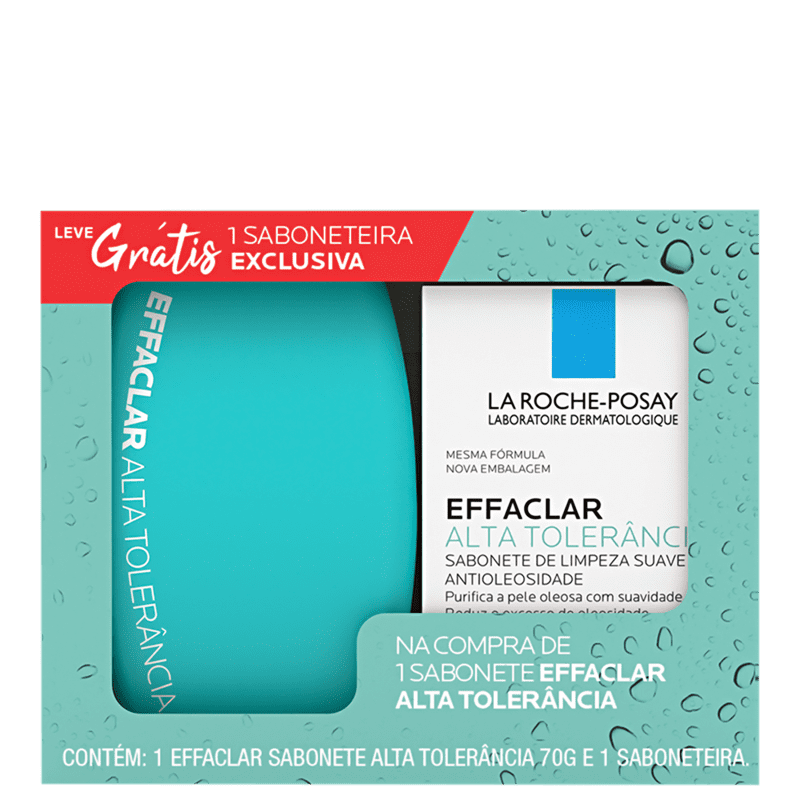 Kit La Roche-Posay Effaclar Sabonete Alta Tolerância + Saboneteira Duo (2 Produtos)