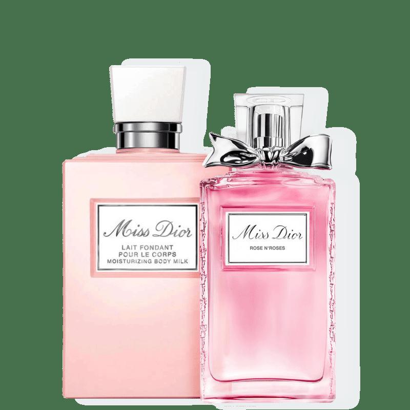 Conjunto Miss DIOR Rose N'Roses Lait Medium Dior Feminino - Eau de Toilette 50ml + Leite Hidratante 200ml